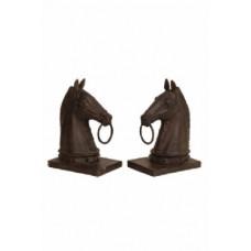 Bokstöd hästhuvud med ring